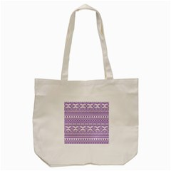 Fancy Tribal Borders Lilac Tote Bag (cream)  by ImpressiveMoments