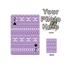 Fancy Tribal Borders Lilac Playing Cards 54 (mini)  by ImpressiveMoments