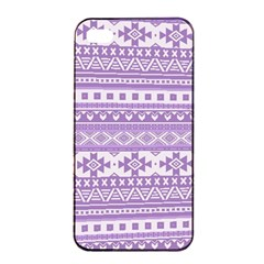 Fancy Tribal Borders Lilac Apple Iphone 4/4s Seamless Case (black) by ImpressiveMoments