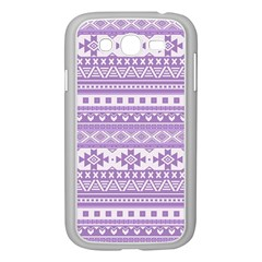 Fancy Tribal Borders Lilac Samsung Galaxy Grand Duos I9082 Case (white) by ImpressiveMoments