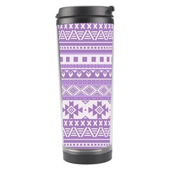 Fancy Tribal Borders Lilac Travel Tumblers by ImpressiveMoments