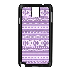 Fancy Tribal Borders Lilac Samsung Galaxy Note 3 N9005 Case (black) by ImpressiveMoments