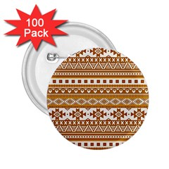 Fancy Tribal Borders Golden 2 25  Buttons (100 Pack)  by ImpressiveMoments