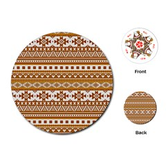 Fancy Tribal Borders Golden Playing Cards (round)  by ImpressiveMoments