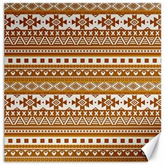 Fancy Tribal Borders Golden Canvas 16  X 16   by ImpressiveMoments
