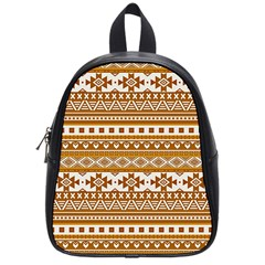 Fancy Tribal Borders Golden School Bags (small)  by ImpressiveMoments