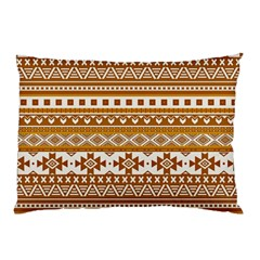 Fancy Tribal Borders Golden Pillow Cases (two Sides)