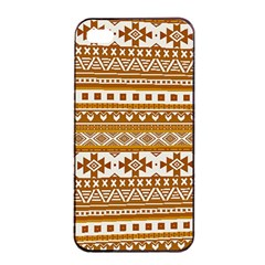 Fancy Tribal Borders Golden Apple Iphone 4/4s Seamless Case (black) by ImpressiveMoments