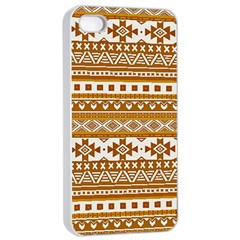 Fancy Tribal Borders Golden Apple Iphone 4/4s Seamless Case (white) by ImpressiveMoments
