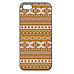 Fancy Tribal Borders Golden Apple Iphone 5 Seamless Case (black) by ImpressiveMoments
