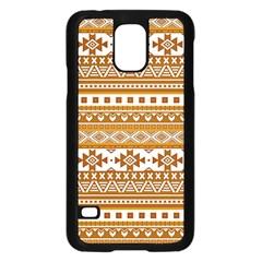 Fancy Tribal Borders Golden Samsung Galaxy S5 Case (Black) by ImpressiveMoments