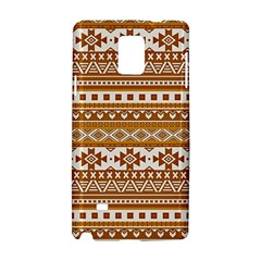 Fancy Tribal Borders Golden Samsung Galaxy Note 4 Hardshell Case by ImpressiveMoments
