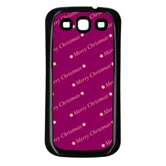 Merry Christmas,text,bordeaux Samsung Galaxy S3 Back Case (black) by ImpressiveMoments