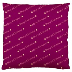 Merry Christmas,text,bordeaux Large Flano Cushion Cases (One Side)