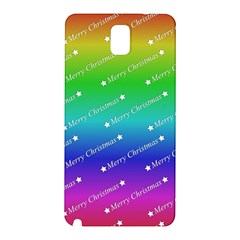 Merry Christmas,text,rainbow Samsung Galaxy Note 3 N9005 Hardshell Back Case by ImpressiveMoments