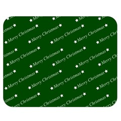 Merry Christmas,text,green Double Sided Flano Blanket (medium)  by ImpressiveMoments