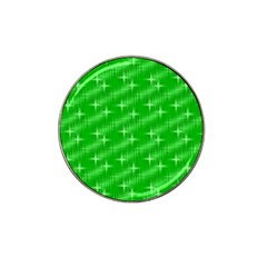 Many Stars, Neon Green Hat Clip Ball Marker (10 Pack) by ImpressiveMoments