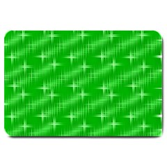 Many Stars, Neon Green Large Doormat  by ImpressiveMoments