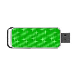 Many Stars, Neon Green Portable Usb Flash (one Side) by ImpressiveMoments