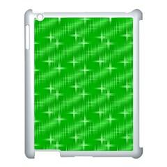 Many Stars, Neon Green Apple Ipad 3/4 Case (white) by ImpressiveMoments