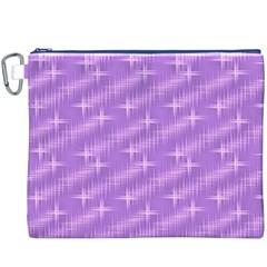 Many Stars, Lilac Canvas Cosmetic Bag (xxxl)  by ImpressiveMoments