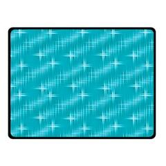 Many Stars,aqua Fleece Blanket (small) by ImpressiveMoments