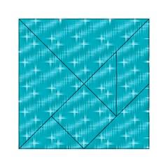 Many Stars,aqua Acrylic Tangram Puzzle (6  x 6 ) by ImpressiveMoments