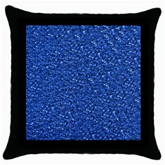 Sparkling Glitter Blue Throw Pillow Cases (black) by ImpressiveMoments