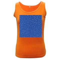 Sparkling Glitter Blue Women s Dark Tank Tops by ImpressiveMoments