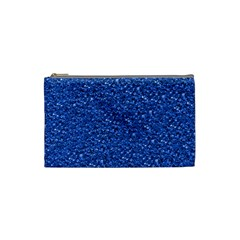 Sparkling Glitter Blue Cosmetic Bag (small)  by ImpressiveMoments