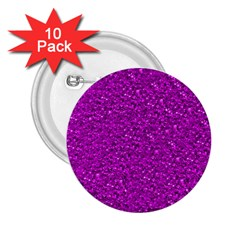 Sparkling Glitter Hot Pink 2 25  Buttons (10 Pack)  by ImpressiveMoments