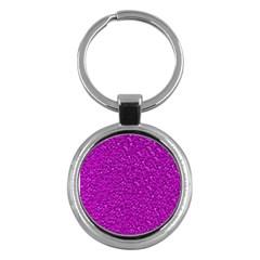 Sparkling Glitter Hot Pink Key Chains (round)  by ImpressiveMoments