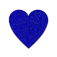 Sparkling Glitter Inky Blue Heart Magnet by ImpressiveMoments