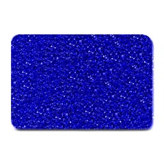 Sparkling Glitter Inky Blue Plate Mats by ImpressiveMoments
