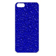 Sparkling Glitter Inky Blue Apple Iphone 5 Seamless Case (white) by ImpressiveMoments