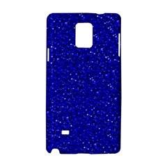Sparkling Glitter Inky Blue Samsung Galaxy Note 4 Hardshell Case by ImpressiveMoments