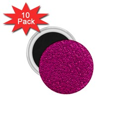 Sparkling Glitter Pink 1 75  Magnets (10 Pack)  by ImpressiveMoments