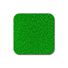 Sparkling Glitter Neon Green Rubber Square Coaster (4 Pack)  by ImpressiveMoments