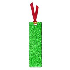 Sparkling Glitter Neon Green Small Book Marks by ImpressiveMoments