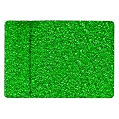 Sparkling Glitter Neon Green Samsung Galaxy Tab 10.1  P7500 Flip Case by ImpressiveMoments