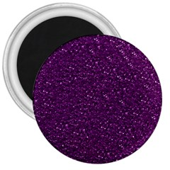 Sparkling Glitter Plum 3  Magnets by ImpressiveMoments