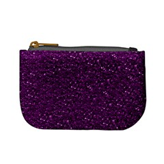 Sparkling Glitter Plum Mini Coin Purses by ImpressiveMoments