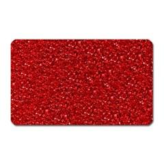 Sparkling Glitter Red Magnet (rectangular) by ImpressiveMoments