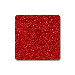 Sparkling Glitter Red Square Magnet by ImpressiveMoments
