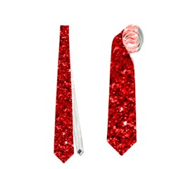 Sparkling Glitter Red Neckties (Two Side)  by ImpressiveMoments