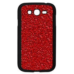 Sparkling Glitter Red Samsung Galaxy Grand Duos I9082 Case (black) by ImpressiveMoments