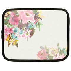 Vintage Watercolor Floral Netbook Case (XL)  by PipPipHooray