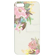 Vintage Watercolor Floral Apple Iphone 5 Hardshell Case With Stand by PipPipHooray
