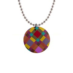 Shapes Pattern 1  Button Necklace by LalyLauraFLM