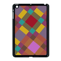 Shapes Pattern Apple Ipad Mini Case (black) by LalyLauraFLM
